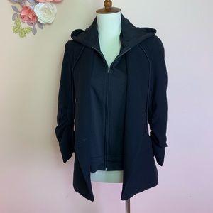 SAKS FIFTH AVENUE Blazer Jacket with Hood